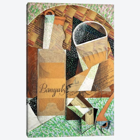 The Bottle of Banyuls, 1914  Canvas Print #BMN1518} by Juan Gris Canvas Art