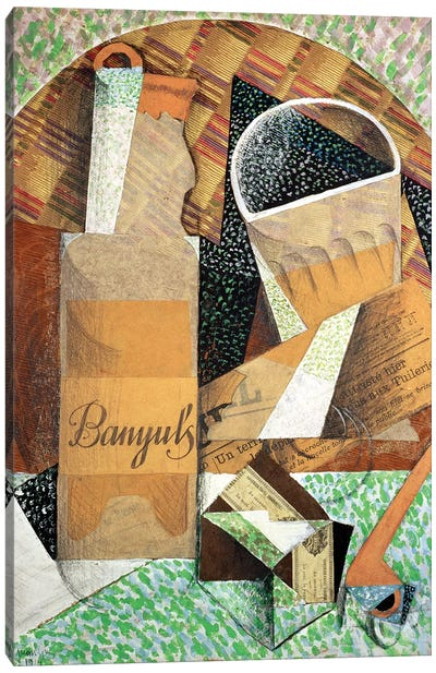 The Bottle of Banyuls, 1914  Canvas Art Print