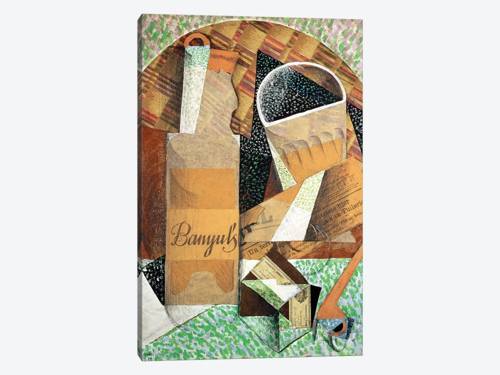 The Bottle of Banyuls, 1914  by Juan Gris 1-piece Canvas Art