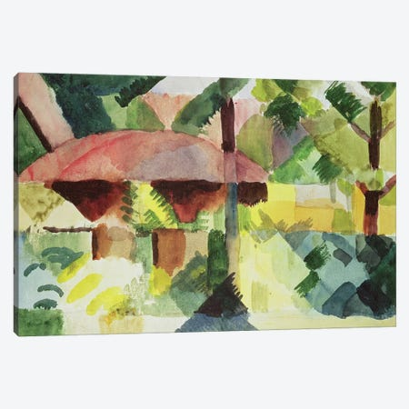 The Garden, 1914  Canvas Print #BMN1519} by August Macke Canvas Art