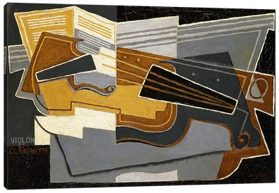 Violin and Clarinet, 1921 (oil on canvas) Canvas Art Print