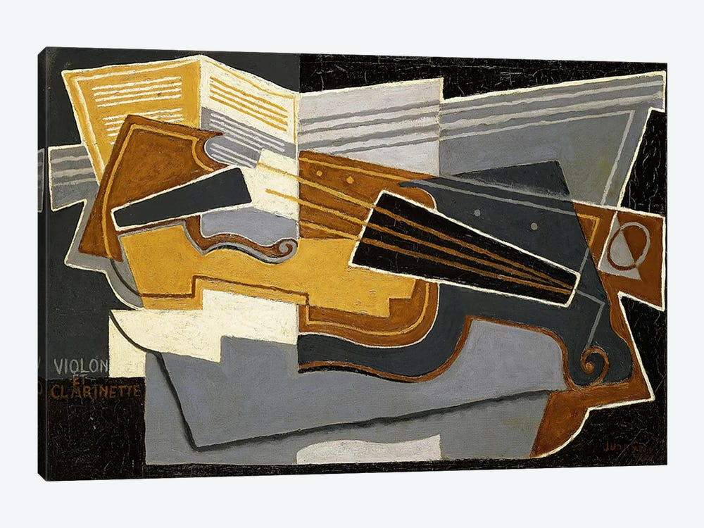 Violin and Clarinet, 1921 (oil on canvas) by Juan Gris 1-piece Canvas Art