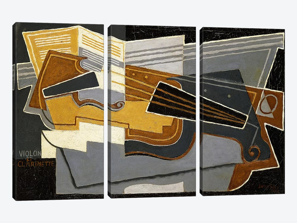 Violin and Clarinet, 1921 (oil on canvas) by Juan Gris 3-piece Canvas Artwork