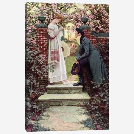 When All the World Seemed Young, pub. in Harper's Magazine, 1909  Canvas Print #BMN1520} by Howard Pyle Art Print