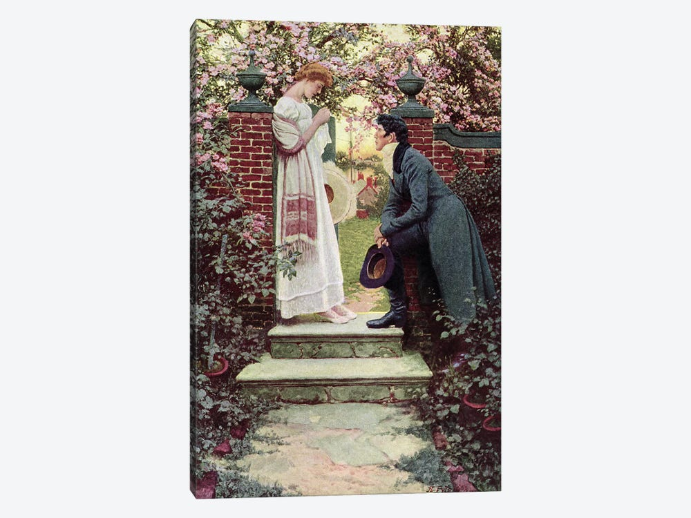 When All the World Seemed Young, pub. in Harper's Magazine, 1909  by Howard Pyle 1-piece Canvas Art Print