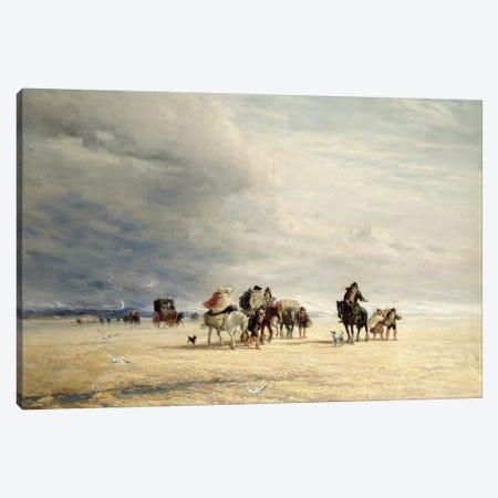 Lancaster Sands, 1841  3-Piece Canvas #BMN1521} by David Cox Canvas Art Print