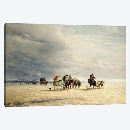 Lancaster Sands, 1841  Canvas Print #BMN1521} by David Cox Canvas Art Print