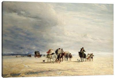 Lancaster Sands, 1841  Canvas Art Print