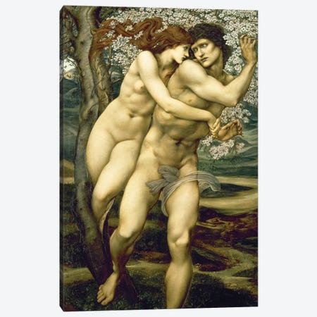 The Tree of Forgiveness, 1881-82  Canvas Print #BMN1530} by Sir Edward Coley Burne-Jones Canvas Art