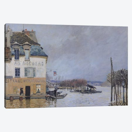 The Flood at Port-Marly, 1876  Canvas Print #BMN1534} by Alfred Sisley Canvas Art Print