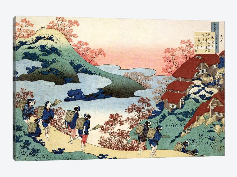 Saramaru Dayu, from the series '100 Poems by 100 Poets Explained by a Nurse', c.1835  by Katsushika Hokusai 1-piece Canvas Wall Art