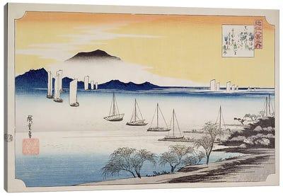Yabase kihan (Returning Sails at Yabase) Canvas Art Print