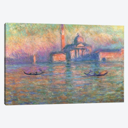 San Giorgio Maggiore, Venice, 1908  Canvas Print #BMN1539} by Claude Monet Canvas Artwork