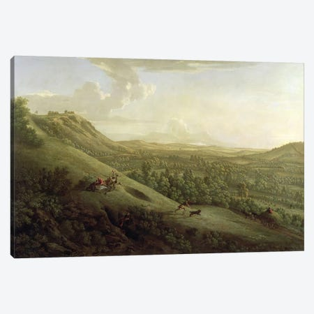 A View of Boxhill, Surrey, with Dorking in the Distance, 1733  Canvas Print #BMN1540} by George Lambert Canvas Art Print