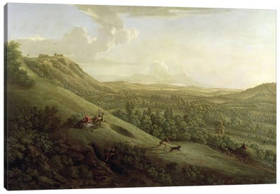 A View of Boxhill, Surrey, with Dorking in the Distance, 1733  Canvas Art Print
