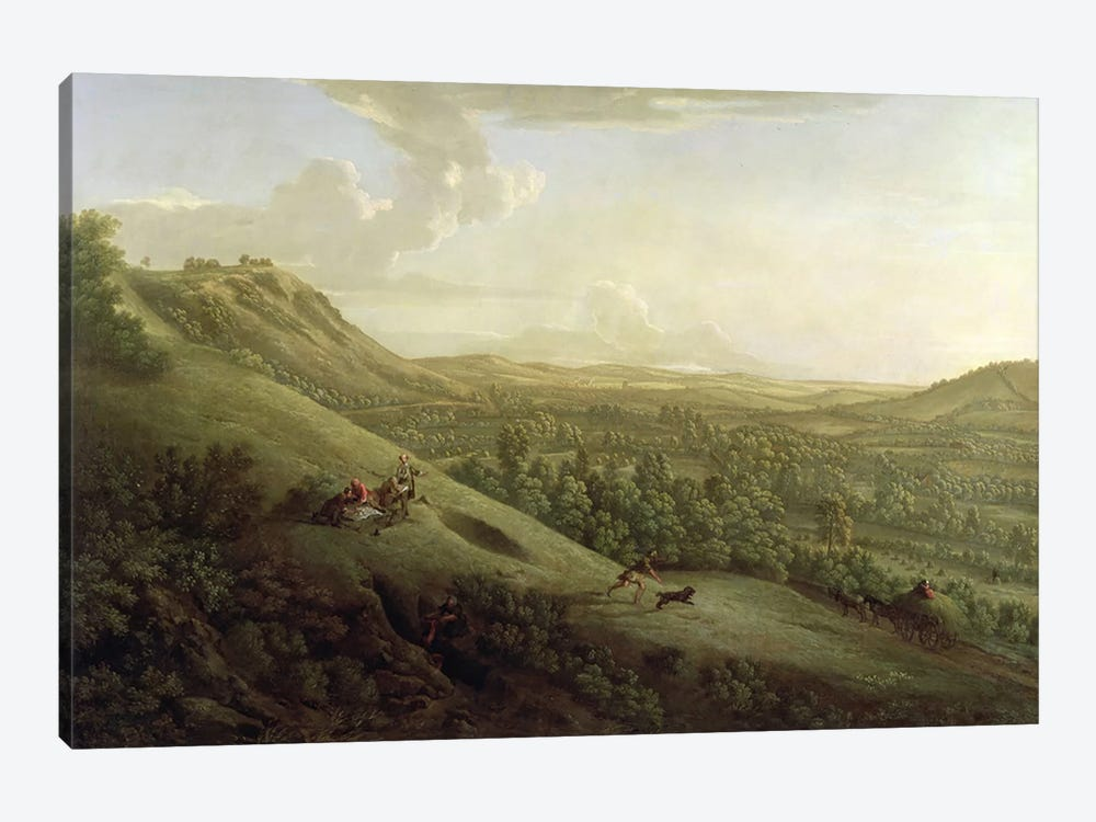 A View of Boxhill, Surrey, with Dorking in the Distance, 1733 by George Lambert 1-piece Canvas Art Print