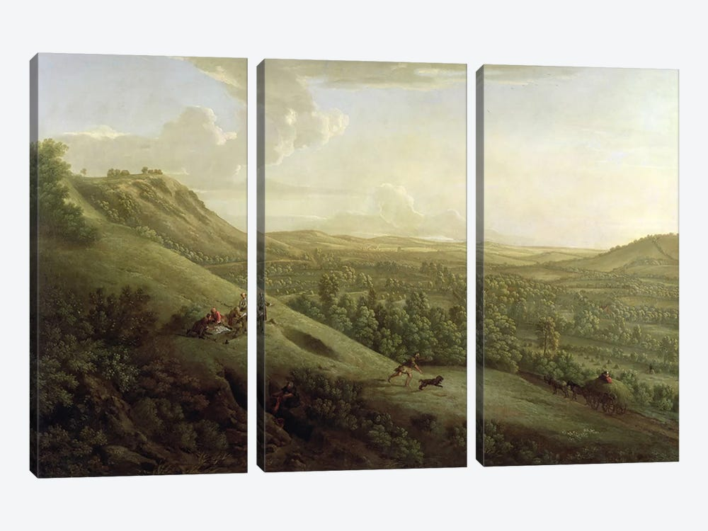 A View of Boxhill, Surrey, with Dorking in the Distance, 1733 by George Lambert 3-piece Art Print