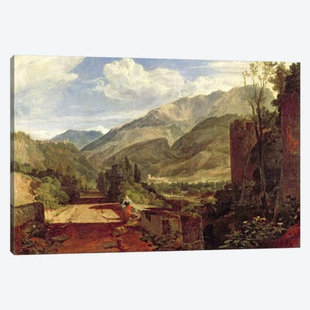 Chateau de St. Michael, Bonneville, Savoy, 1803  Canvas Print #BMN1542} by J.M.W. Turner Canvas Print