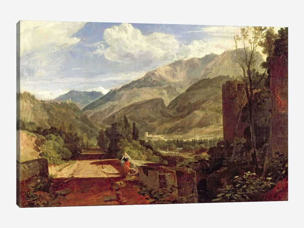 Chateau de St. Michael, Bonneville, Savoy, 1803 by J.M.W Turner 1-piece Canvas Art Print