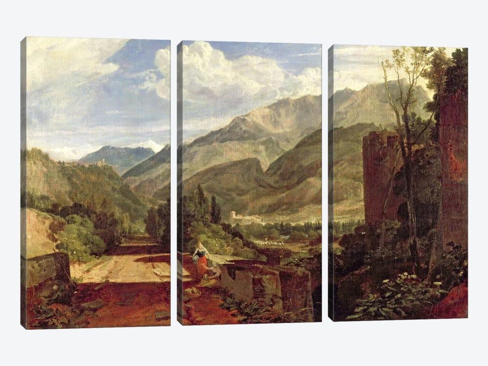 Chateau de St. Michael, Bonneville, Savoy, 1803  by J.M.W. Turner 3-piece Canvas Print