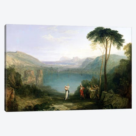 Lake Avernus: Aeneas and the Cumaean Sibyl, c.1814-5  Canvas Print #BMN1543} by J.M.W. Turner Art Print