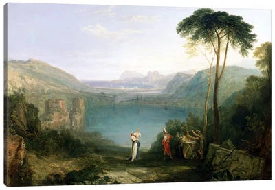Lake Avernus: Aeneas and the Cumaean Sibyl, c.1814-5  Canvas Art Print