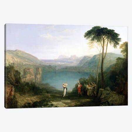 Lake Avernus: Aeneas and the Cumaean Sibyl, c.1814-5  Canvas Print #BMN1543} by J.M.W. Turner Art Print