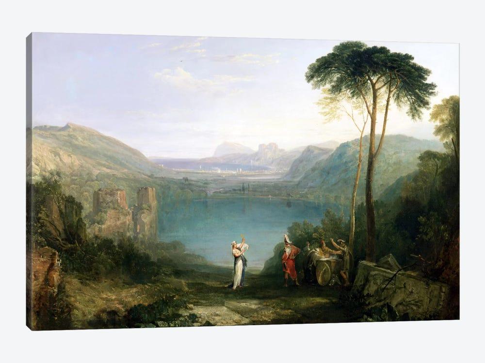 Lake Avernus: Aeneas and the Cumaean Sibyl, c.1814-5  by J.M.W. Turner 1-piece Canvas Wall Art