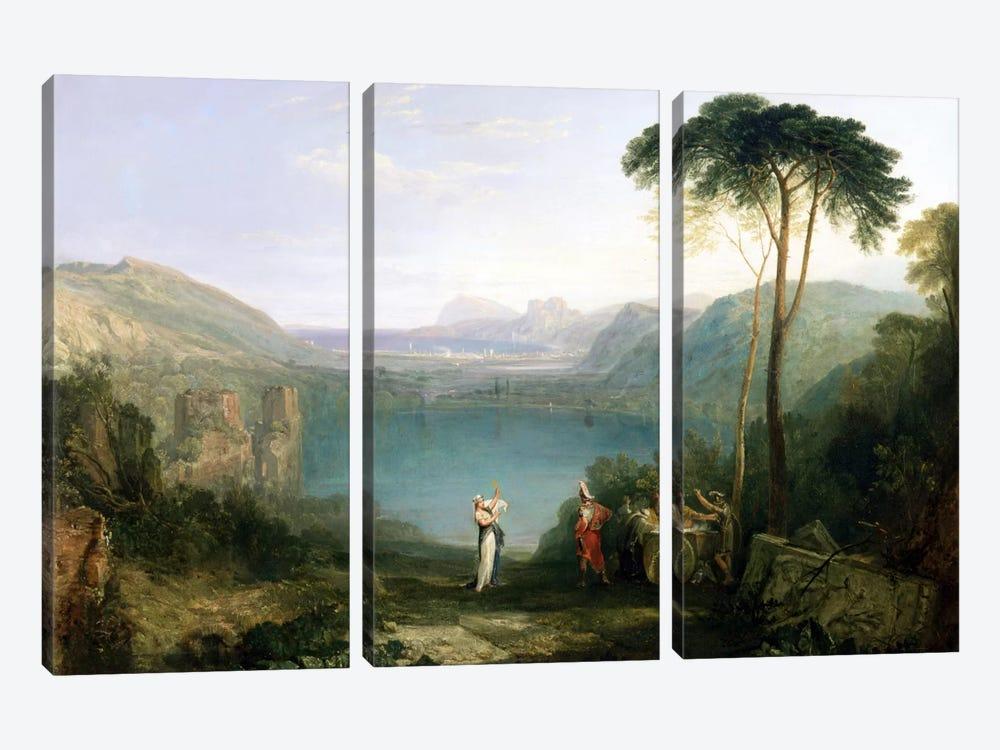 Lake Avernus: Aeneas and the Cumaean Sibyl, c.1814-5  by J.M.W. Turner 3-piece Canvas Art