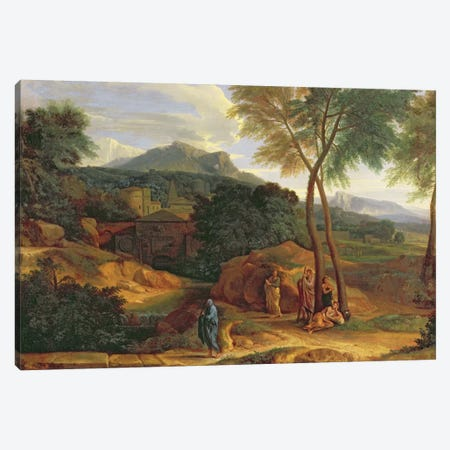 Landscape with Conopion Carrying the Ashes of Phocion  Canvas Print #BMN1546} by Jean-Francois Millet Canvas Artwork