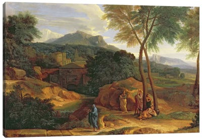Landscape with Conopion Carrying the Ashes of Phocion  Canvas Art Print