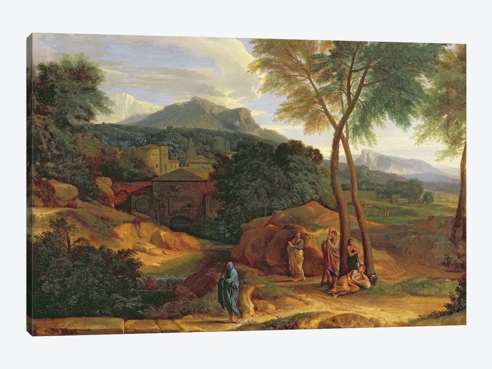 Landscape with Conopion Carrying the Ashes of Phocion  by Jean-Francois Millet 1-piece Art Print