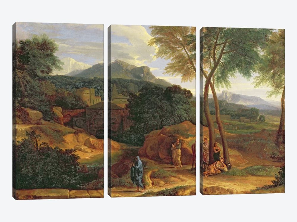 Landscape with Conopion Carrying the Ashes of Phocion  by Jean-Francois Millet 3-piece Art Print