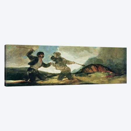 Duel with Clubs  Canvas Print #BMN1547} by Francisco Goya Canvas Wall Art