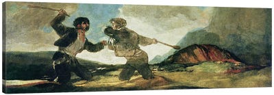 Duel with Clubs  Canvas Art Print