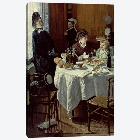The Breakfast, 1868  Canvas Print #BMN1548} by Claude Monet Canvas Art Print