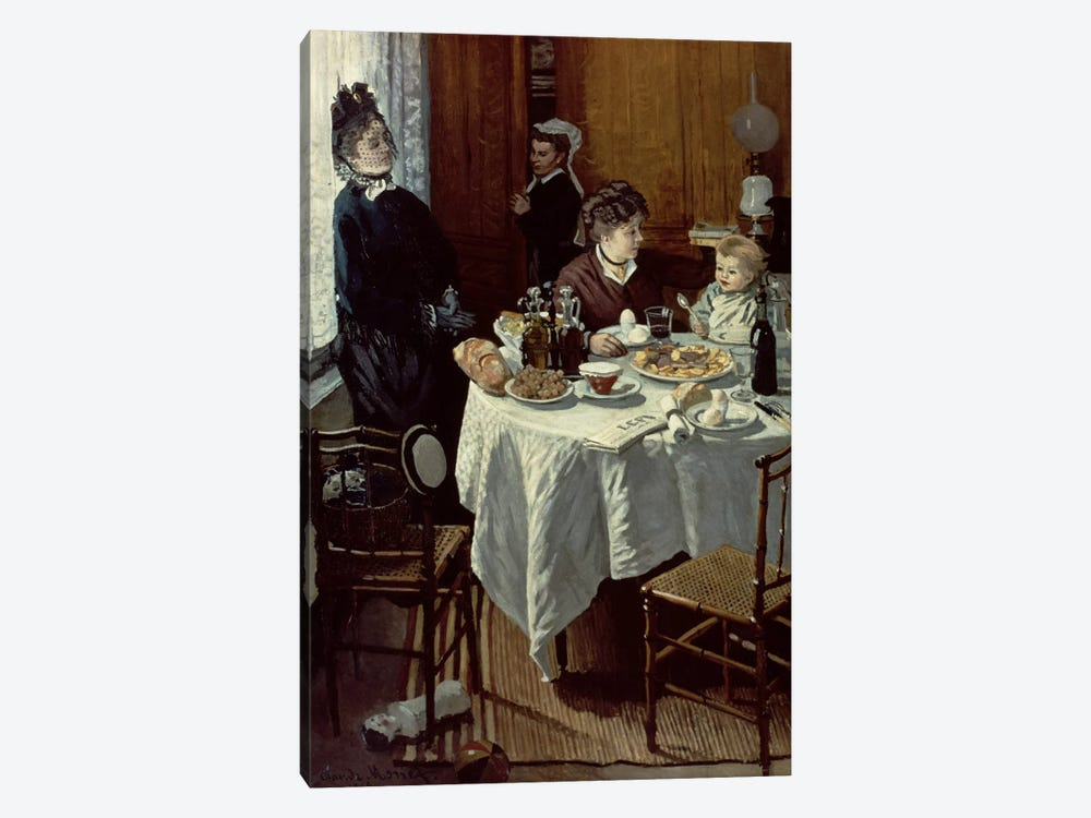 The Breakfast, 1868 by Claude Monet 1-piece Art Print