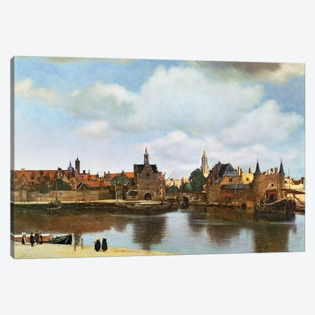 View of Delft, c.1660-61  3-Piece Canvas #BMN1549} by Johannes Vermeer Canvas Print