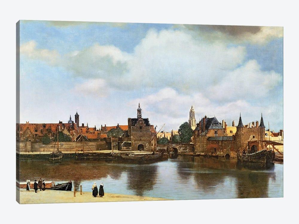 View of Delft, c.1660-61  by Johannes Vermeer 1-piece Canvas Artwork