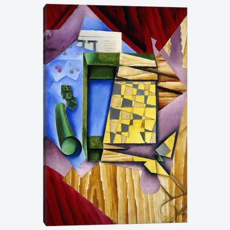 Backgammon, 1913-14 (oil on canvas) Canvas Print #BMN154} by Juan Gris Canvas Art Print
