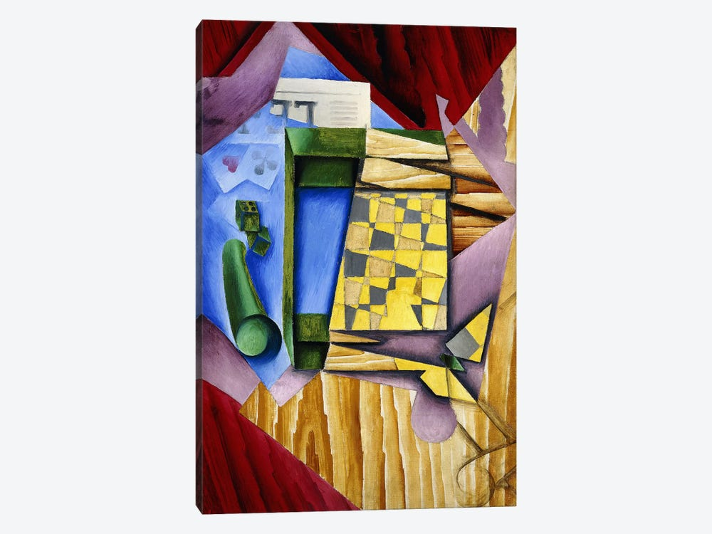 Backgammon, 1913-14 (oil on canvas) by Juan Gris 1-piece Canvas Print