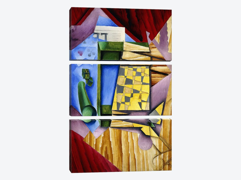 Backgammon, 1913-14 (oil on canvas) by Juan Gris 3-piece Art Print