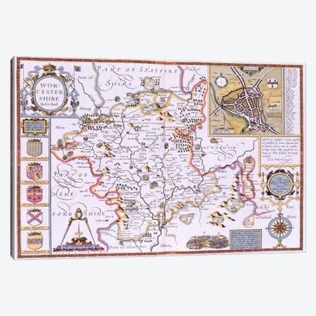 Worchestershire, engraved by Jodocus Hondius  Canvas Print #BMN1567} by John Speed Canvas Art