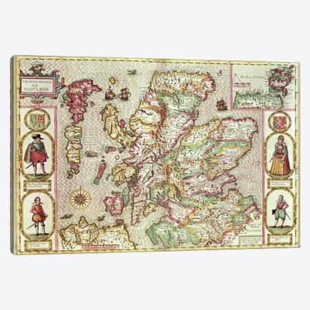 The Kingdome of Scotland, engraved by Jodocus Hondius  Canvas Print #BMN1578} by John Speed Canvas Artwork