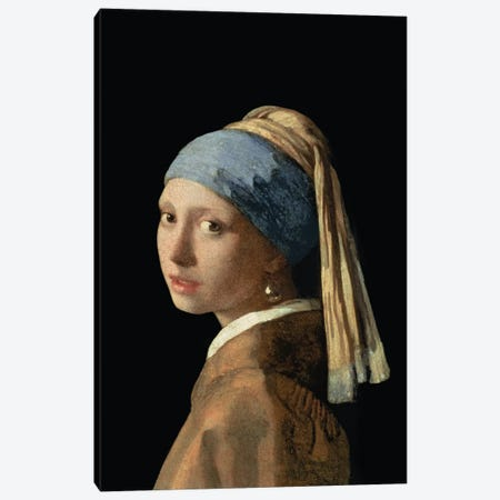 Girl with a Pearl Earring, c.1665-6  Canvas Print #BMN1579} by Johannes Vermeer Canvas Artwork