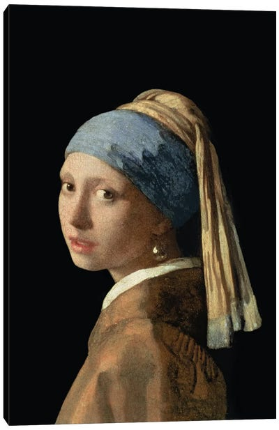 Girl with a Pearl Earring, c.1665-6  Canvas Art Print