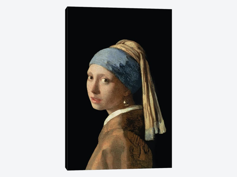 Girl with a Pearl Earring, c.1665-6  by Johannes Vermeer 1-piece Canvas Print