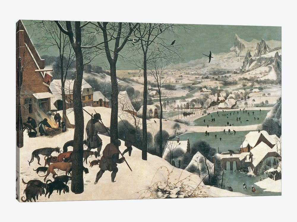 Hunters in the Snow - January, 1565 by Pieter Brueghel the Elder 1-piece Canvas Art