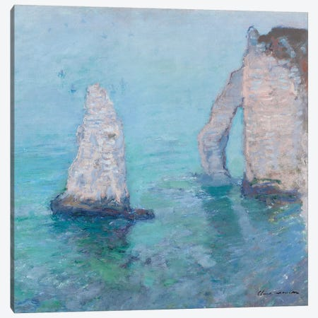 The Rock Needle and the Porte d'Aval, c.1885  Canvas Print #BMN1580} by Claude Monet Art Print