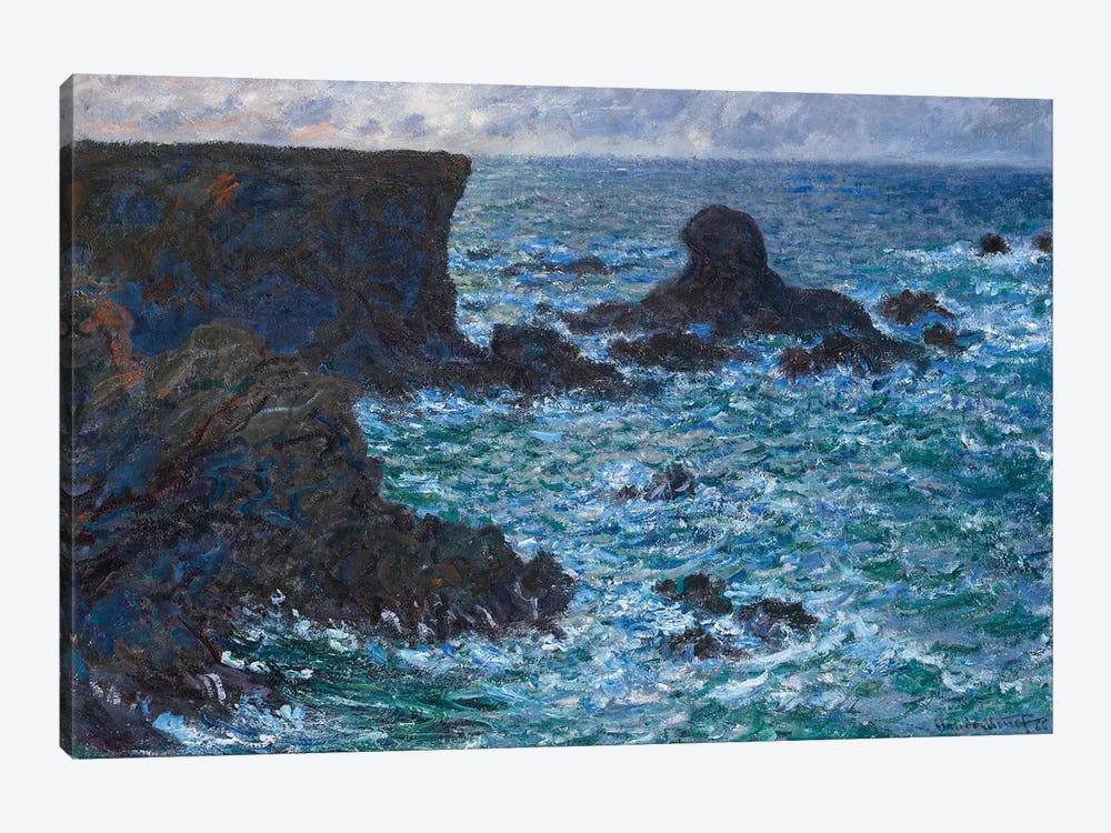 Rocks at Port Coton, the Lion Rock, 1886  by Claude Monet 1-piece Canvas Wall Art
